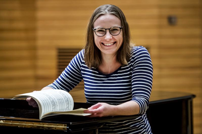 Viime syksynä Minna-Leena Lahti ja muut Verso Ensemblen jäsenet harjoittelivat Duruflén Requiemia Kokkolassa.