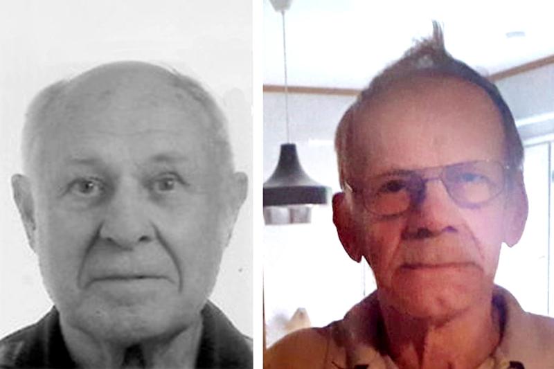 Sven-Erik Österlund (vas.) ja Martti Perkkiö katosivat jäljettömiin joulukuussa 2020.