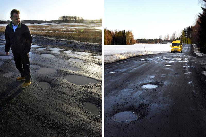 Kari Sorola Reisjärveltä on kyllästynyt sorateiden huonoon kuntoon ja esittää tienpitäjälle uusia keinoja tienhoitoon.