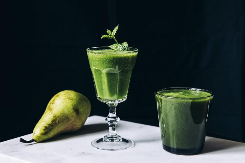 Vihersmoothiessa tärkeää on tasapaino vihreän ja makean välillä.