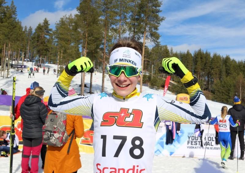 IF Minkenin Topias Vuorela voitti lauantaina mestaruuden ja sunnuntaina pronssia.