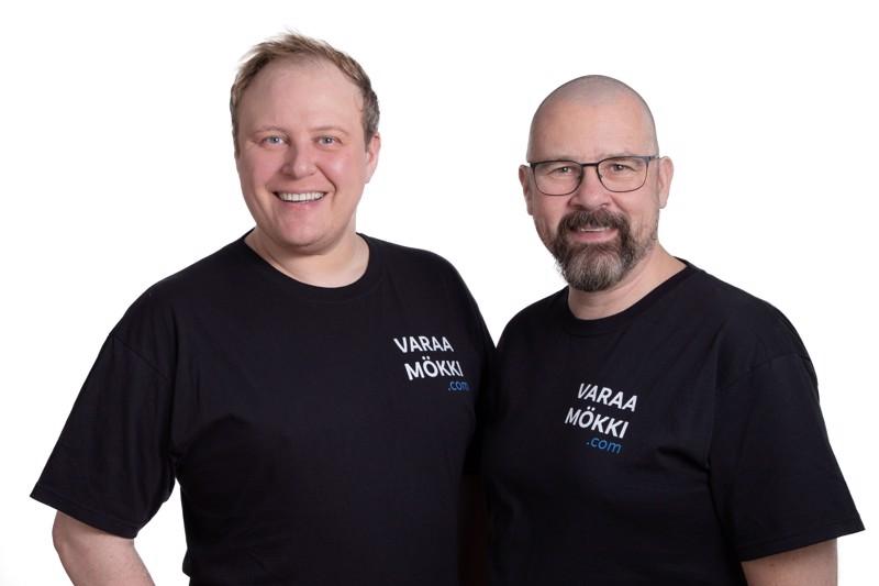 Yrittäjät Tuomas Kankaala ja Jyrki Matilainen.