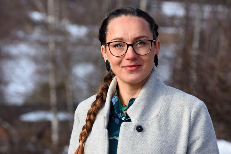 Johanna Hurskainen kokee kaupungin talousjohtajana olevansa osa haapavetistä yhteisöä, vaikka asuu Oulussa.