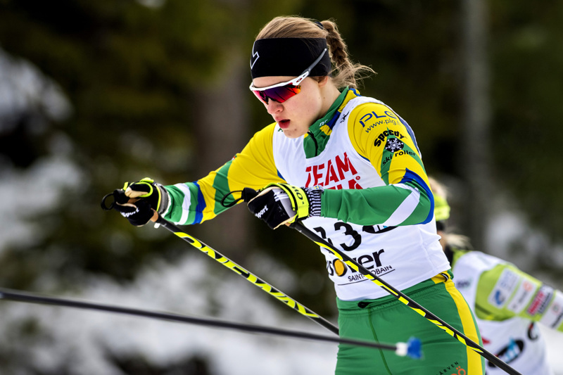 Tiia Olkkonen otti pronssia 23-vuotiaiden sprintissä.