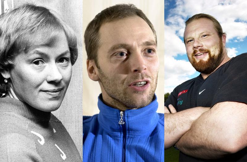 Olympiavoittajat Helena Takalo, Mika Myllylä ja Arsi Harju ovat kolme ensimmäistä kunniagalleriaan nimettyä urheilijaa.