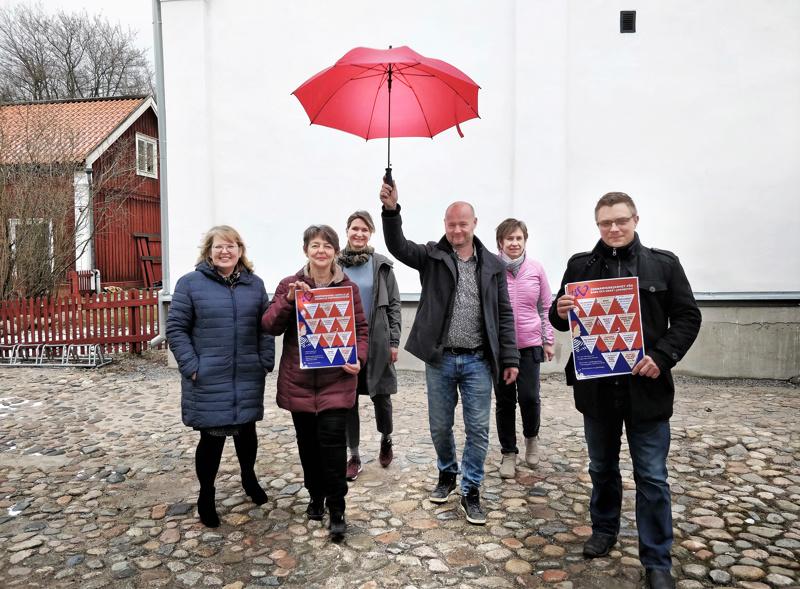 Päivi Rosnell työväenopistosta, Carola Sundqvist museolta, Malin Simons Balatakosta, Anders Wingren Arbiksesta, Tiina Höylä-Männistö nuoristotoimesta ja Peter Roos Wava-opistosta.