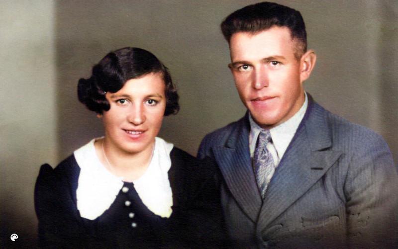 Armas Mäntykorpi ja vaimonsa Anna.
