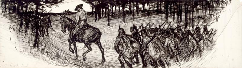 """""""Möttönen noin ratsasti"""", Otto von Fieandt -runon loppuvinjetti, 1897 - 1900"""