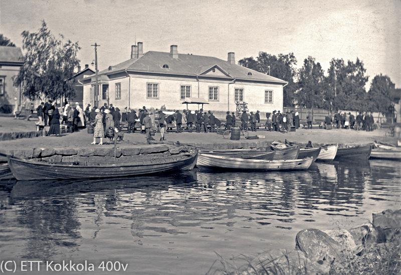 Suntin kalaranta Pakkahuoneen kadun kohdalla 1935.