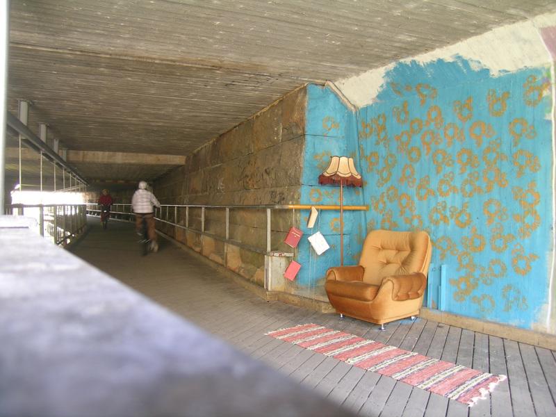 Taidetta tunnelissa; katutaiteen kurssi Pärra Anderssonin johdolla.