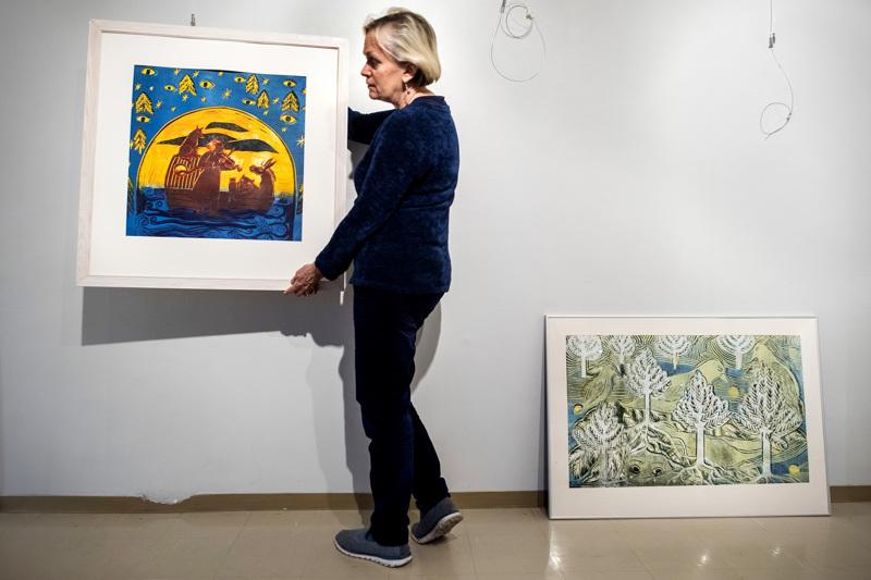 Jaana Erkkilän taidenäyttely oli Kokkolassa Galleria Artistassa joulukuussa 2018.