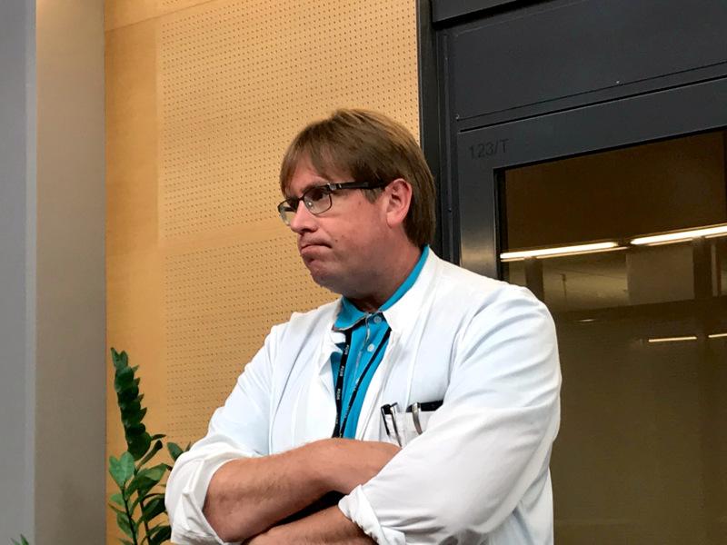 Soite tiedottaa alueen koronavirustilanteesta tänään puolilta päivin. Kuvassa infektioylilääkäri Marko Rahkonen.