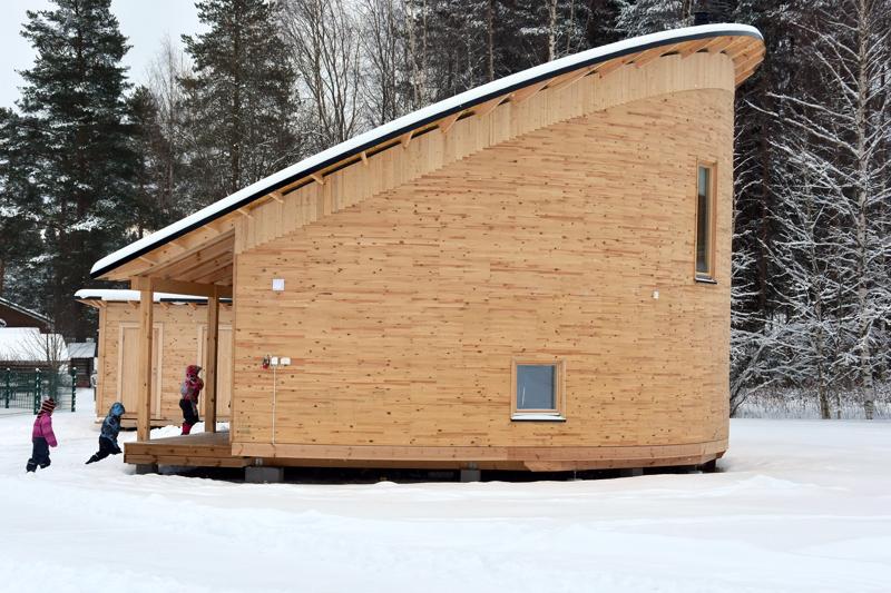 Kanervala. Aalto Haitek valmisti Toholammille ulkopäiväkodin, jonka avajaisia vietettiin tammikuussa 2020.