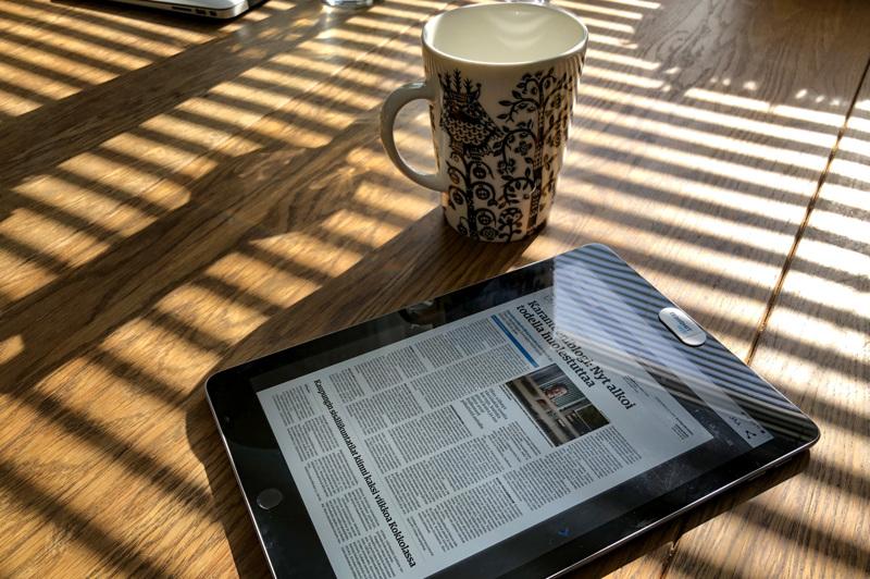 Perjantaina Keskipohjanmaa ilmestyy digitaalisena näköislehtenä. Digipalvelut kuuluvat kaikille tilaajille.