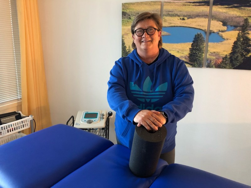 Tuula Krokfors on erikoistunut urheilufysioterapiaan ja on mukana GBK:n edustusjoukkueen toiminnassa.