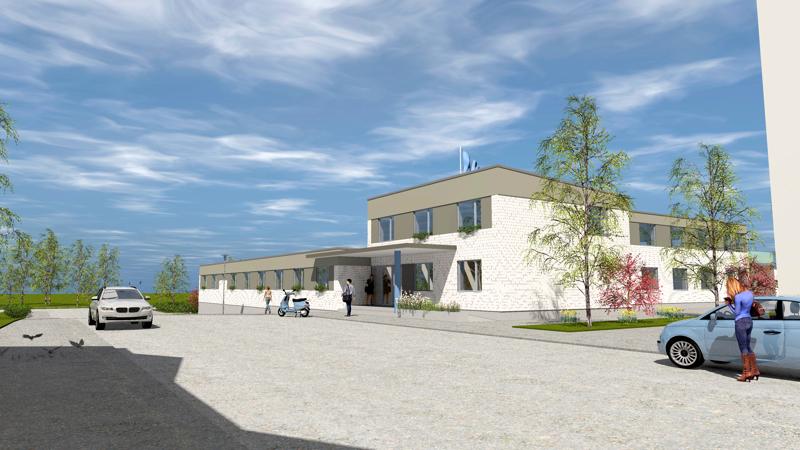 Entinen De Gamlas Hem, nykyisin Villa Jung, saa uuden sisäänkäynnin Myllymäenkadulta.