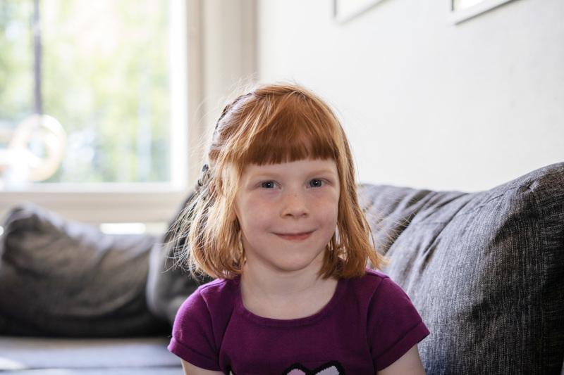 Viola Kämäräinen menee syksyllä esikouluun.
