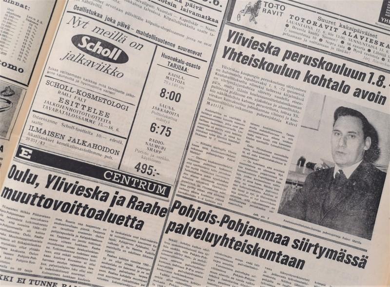 Isot uudistukset hallitsivat etusivua 12.6.1971.