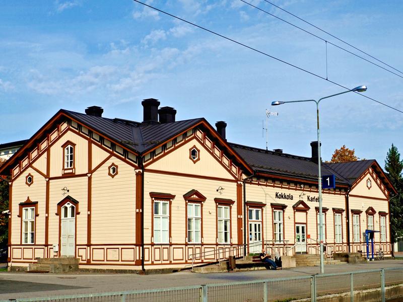 Kokkolan rautatieasema on rakennettu 1880-luvulla.
