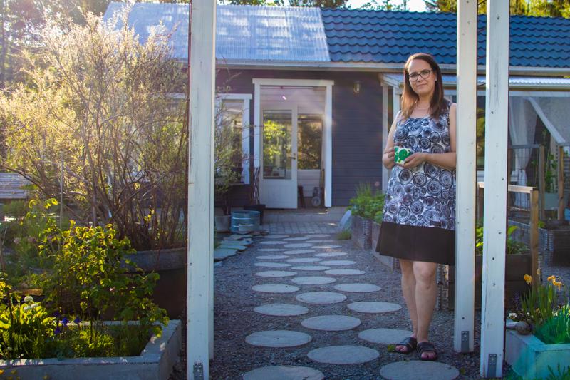 """Mari Verronen osallistuu valtakunnalliseen """"Avoimet puutarhat"""" -tapahtumaan ensimmäistä kertaa."""