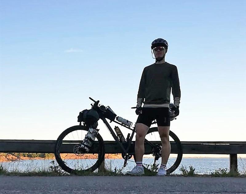 Kalle Vähäaho taittoi 1510 kilometriä lopulta kymmenessä päivässä.