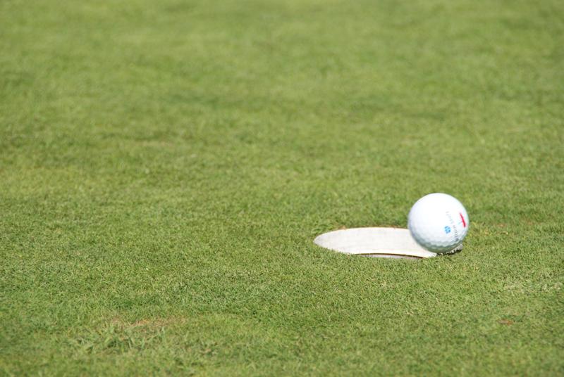Kokkolan golfkenttä saatiin tyhjennettyä nopeasti. Kentällä oli vain vähän pelaajia myrskyn aikana.