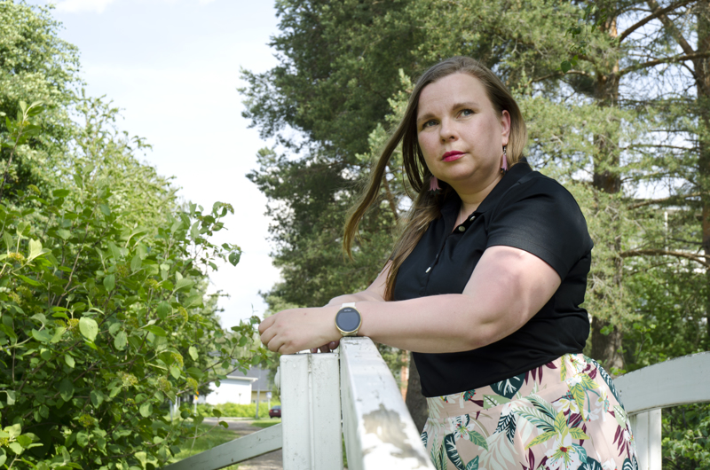 Luonto on Tiia Kariniemelle tärkeää. Hänellä on paljon ideoita Ylivieskan kehittämiseksi.