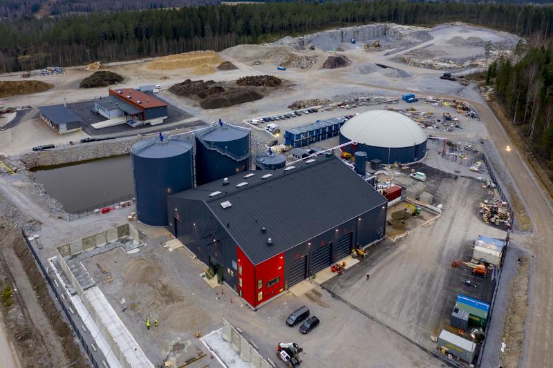 Gasumin Lohjan biokaasulaitos tuottaa noin 40 gigawattituntia biokaasua vuodessa.