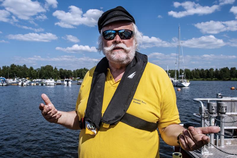 Meripelastajien puheenjohtaja Anders Fredriksson.