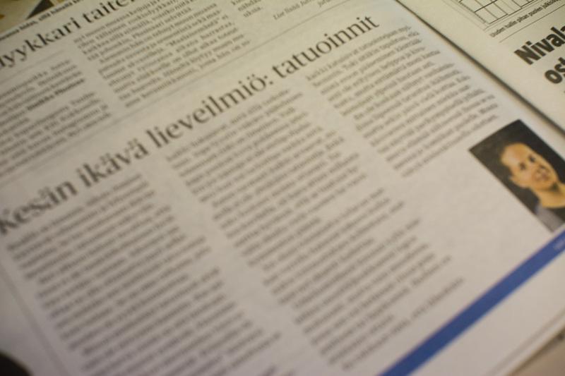 Nivala-lehden toimittajan Eetu Kupulisojan tatuointeihin liittyvä kolumni herätti suurta keskustelua.