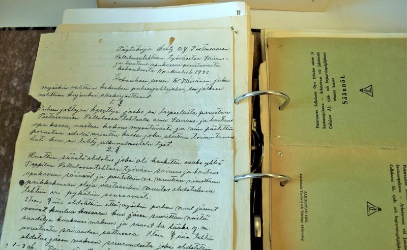 Perustamiskokouksen pöytäkirja löytyy yhä sairauskassan arkistosta.