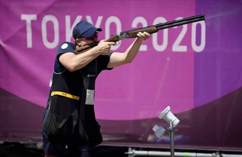 Eetu Kallioinen pääsi lähelle olympiamitalia skeetissä.