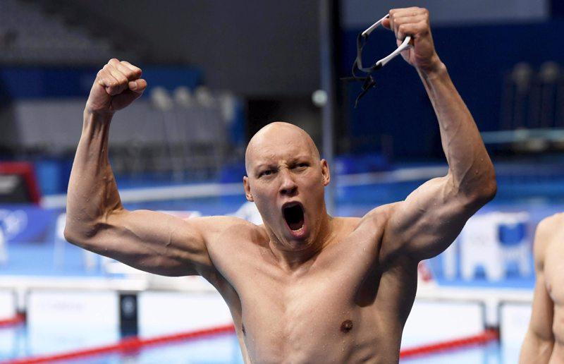 Matti Mattssonilla oli syytä tuuletuksiin 200 metrin rintauintifinaalin jälkeen.