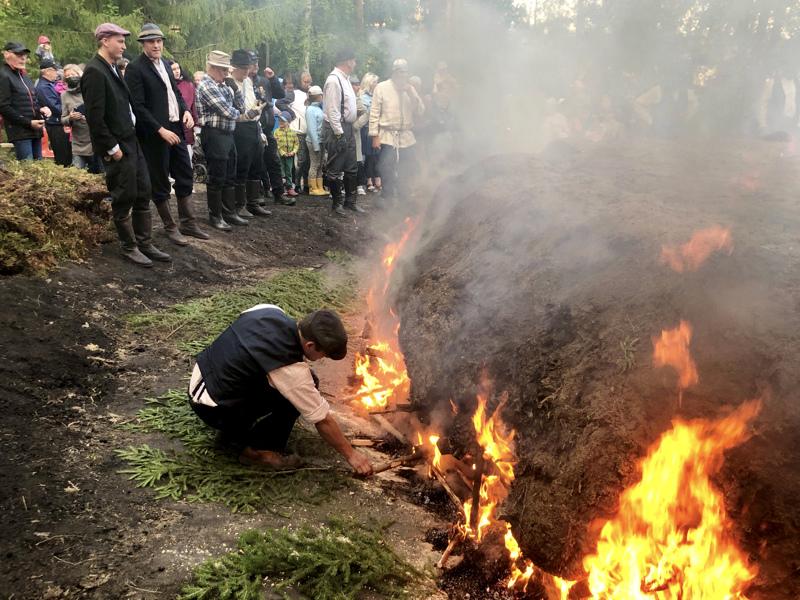 Pahkalan tervahauta on jaettu 25 osuuteen ja polttajia on nelisenkymmentä.