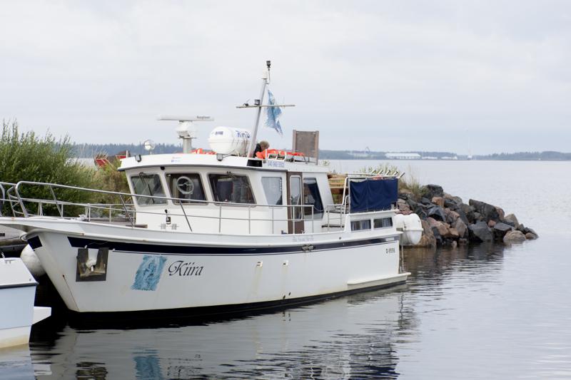 Kiira-laiva on kulkenut Kallassa kaksi kertaa joka päivä, tuulisia kelejä lukuunottatta.
