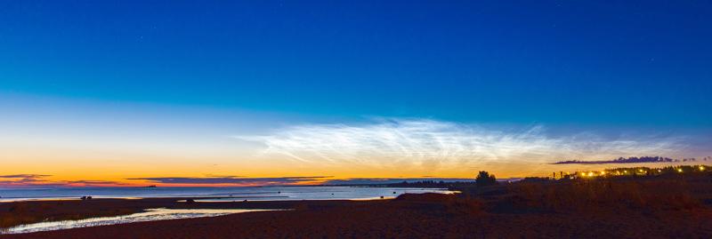 Valaisevat pilvet Kalajoella 13. elokuuta.