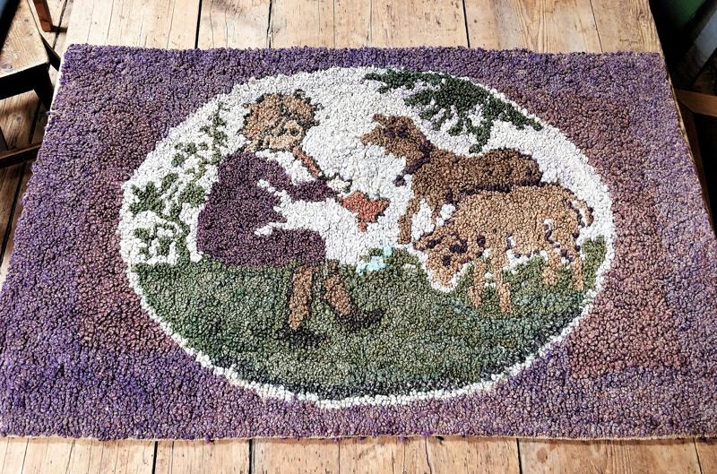 Paimenpoika soittelee lampailleen  satavuotiaassa seinävaatteessa.