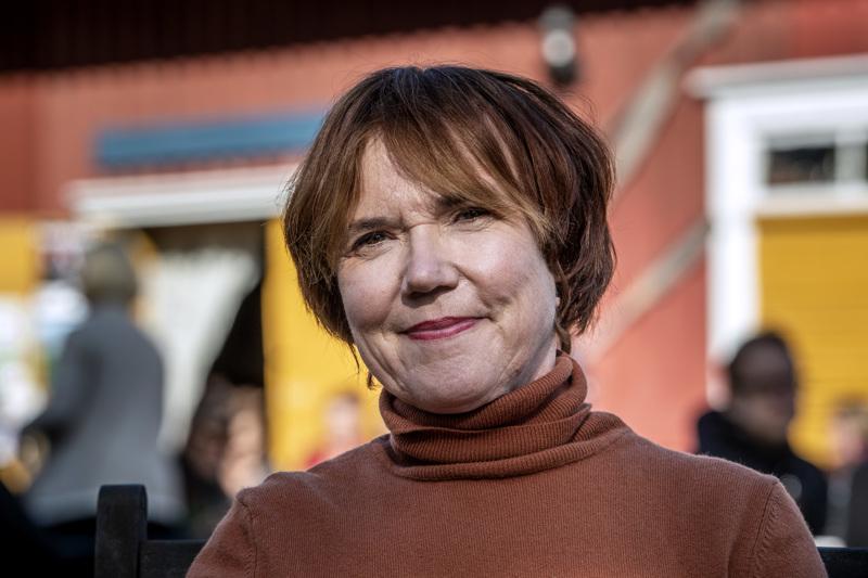 Rosa Liksom viihtyi Kokkolan Kinojuhlilla.