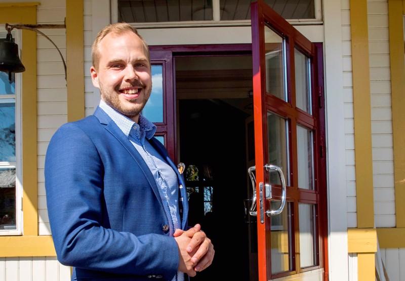 Martin Norrgård valittiin Uudenkaarlepyyn kaupunginjohtajaksi. Kuva on otettu RKP:n piirikokouksessa Kruunupyyssä kaksi vuotta sitten.