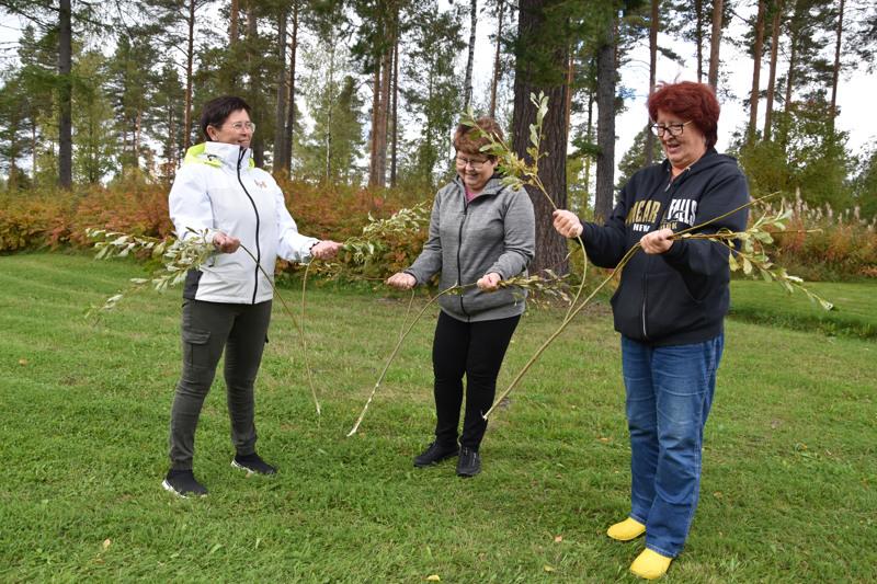 Karsikkaan sisarukset Hilkka Nikula, Kaija Pulkkinen ja Päivi Salo löysivät helposti Linninkankaalla olevat otolliset kaivonpaikat.