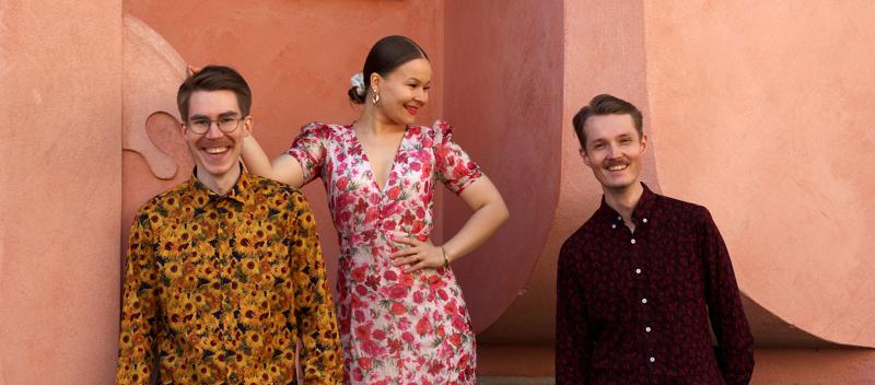 Laura Maria Trio eli Laura Maria Rinta, Juuso Rinta (oik.) ja Otto Kentala esiintyvät Kokkolassa lauantaina.