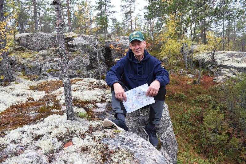 Rahkovuori ja muut Korkatin seudun maastot ovat Raimo Jussilalle Haapavedellä mieluisimpia paikkoja.