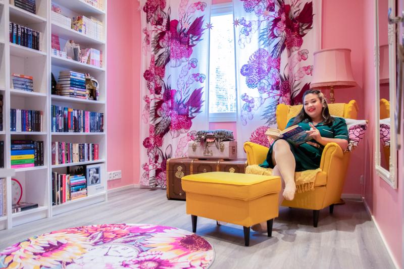 Cecilia Nykvistin lempipaikka kotona on kirjastohuone, josta hän on haaveillut lapsesta asti.