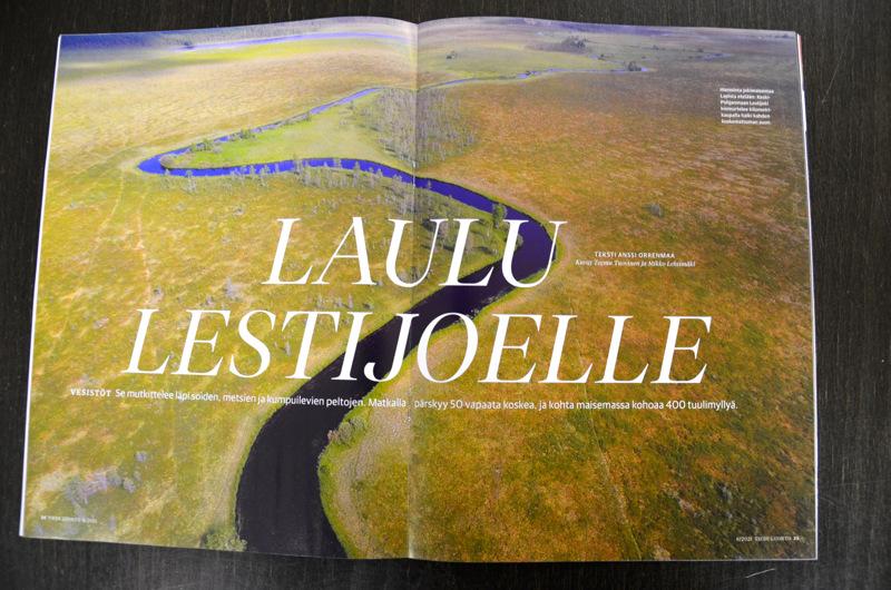 Laulu Lestijoelle. Uusimmassa Tiede Luonto -lehdessä on laaja artikkeli Lestijoesta.