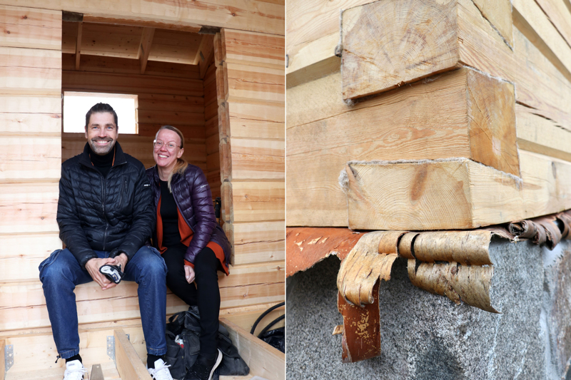 Ville ja Kirsi Ojanen rakentavat Kaustiselle Kraatarin naapuriin kotitaloa. Tähän mennessä tontille on noussut saunan kehikko. Varsinaisen asuinrakennuksen vuoro on ensi kesänä.