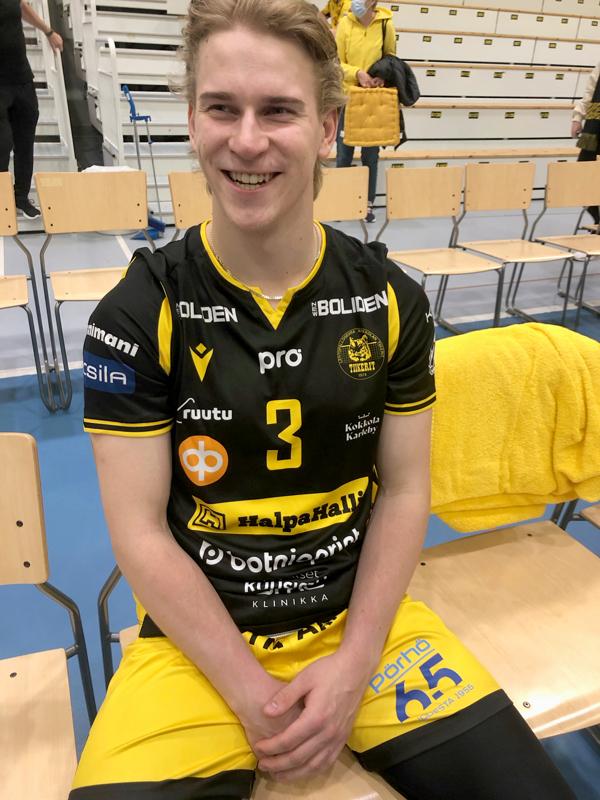 Libero Ville Sihvonen tietää, että kova joensuulaisjoukkue tulee sunnuntaina Kokkolaan.