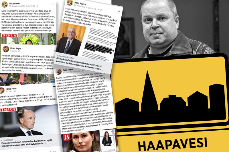Syynä Ilkka Revon virkasuhteen purkamiselle ovat olleet hänen somepäivityksensä, jotka nousivat julkisuuteen viime maaliskuussa.