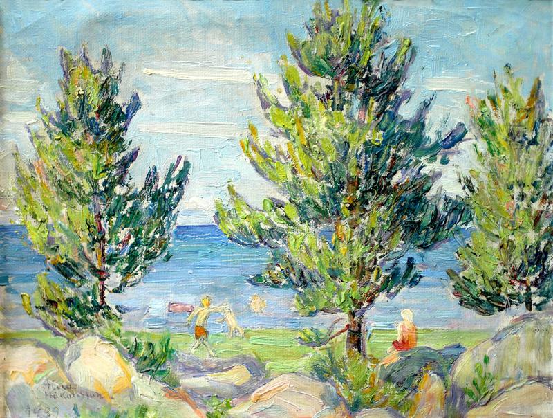 Aina Håkanssonin maalaus Pikiruukista on vuodelta 1939.