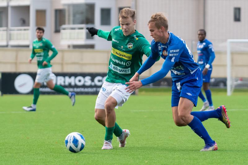 KPV:n voittomaalin puski Severi Kähkönen tanskalaistaituri Kristian Andersenin keskityksestä.