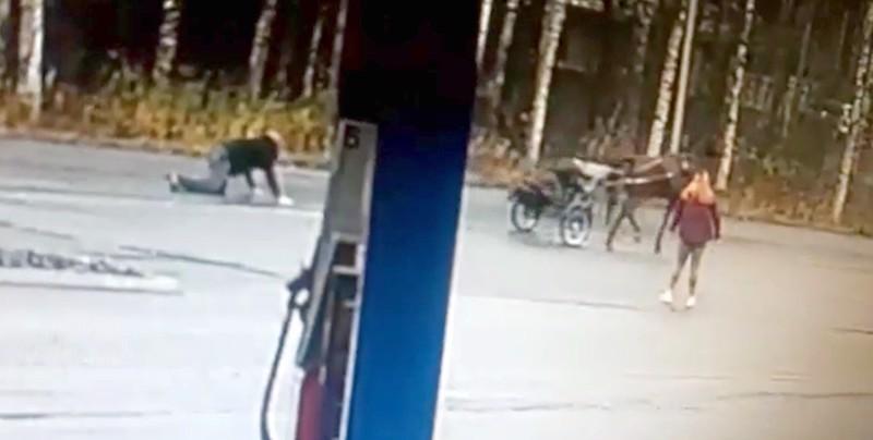 Irrallaan ollut hevonen saatiin kiinni Kaustisella huoltoasema Teboilin kohdalla.
